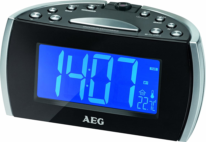 AEG MRC 4119 P N - Radiodespertador, Negro