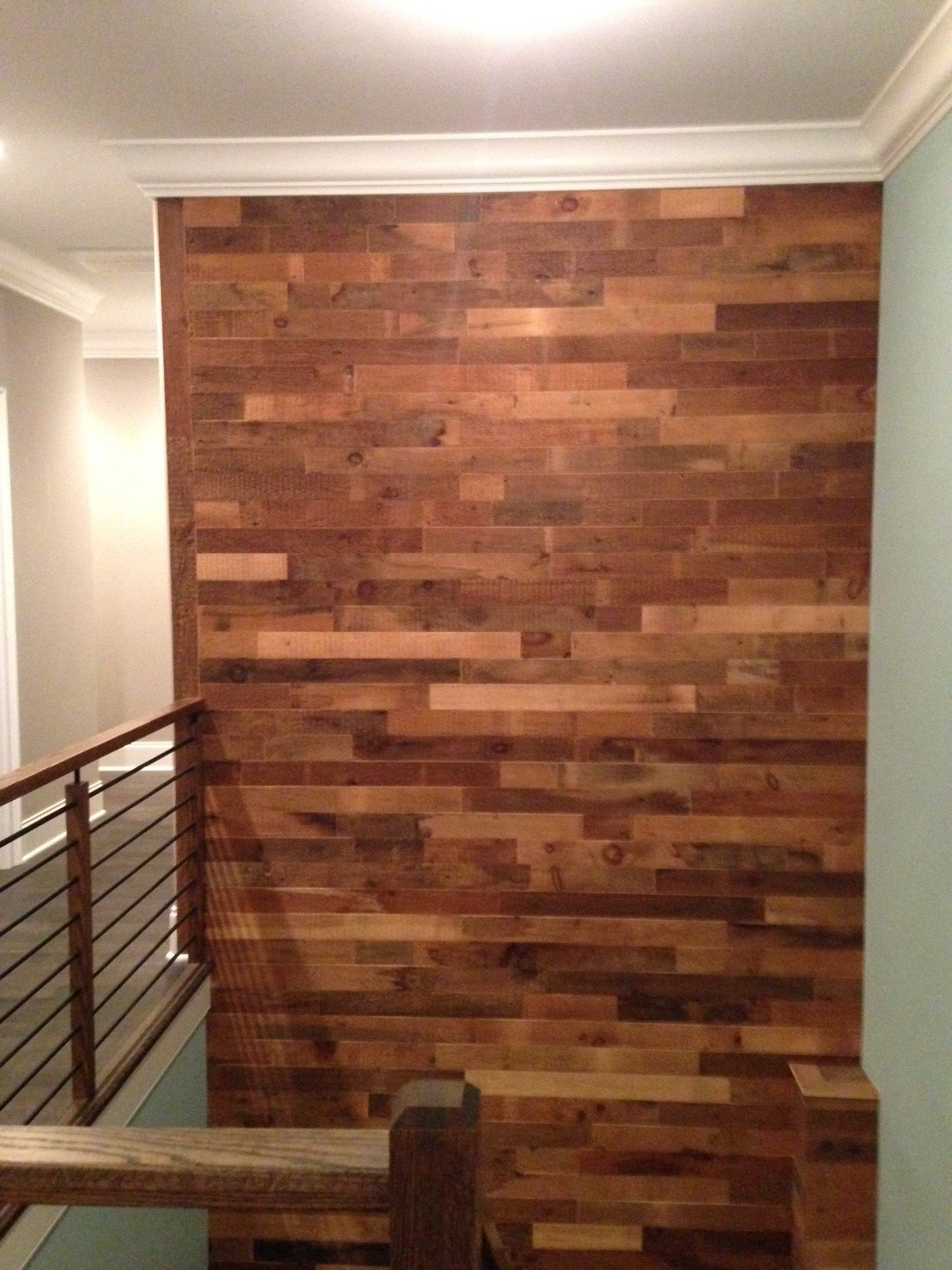 EAST COAST RUSTIC Reclaimed Barn Wood Wall Panels - Easy Install Rustic Wood DIY Wall Covering for Feature Walls (20 Sq Ft - 3.5'' Wide, Brown Natural) by East Coast Rustic (Image #4)