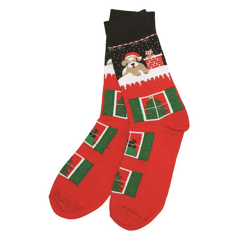 Christmas Shop Unisex Socken mit Weihnachtsmotiv (Einheitsgröße ...