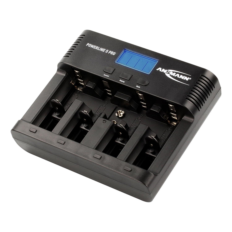 ANSMANN Powerline 5 Pro Caricabatterie Per 1-4 Batterie Nimh/Nicd Batteria 9V Nimh/Nicd E-Block e USB 1001-0018