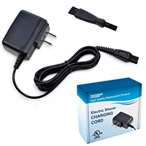 HQRP 15V AC Adapter for Philips Norelco 9000 9700 Series, S9721 AT811 7885XL 7886XL 8020X 8040X 8060X 8138XL Razor/Shaver Power Cord Charger + Cleaning Brush