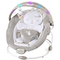 Ingenuity InLighten Bouncer Cradling Baby Bouncer with Bunny Bolster - Twinkle Tails, Newborn+