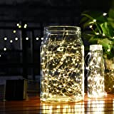 (150 LED - Warm white) - Goodia 49ft 15m 150 LED Solar Waterproof Copper Wire Lights,String Lights for Indoor,Bedroom,Patio,Lawn,Landscape,Fairy Garden,Home,Wedding,Holiday,Christmas Tree,Halloween,New Year,Party (Warm White)