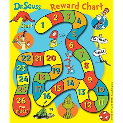 Eureka Back to School Dr. Seuss Mini Reward Charts for Kids with Stickers, 736pc, 5'' W x 6'' H: Office Products