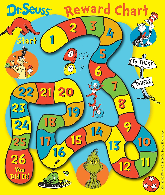 Eureka Back to School Dr. Seuss Mini Reward Charts for Kids with Stickers, 736pc, 5'' W x 6'' H