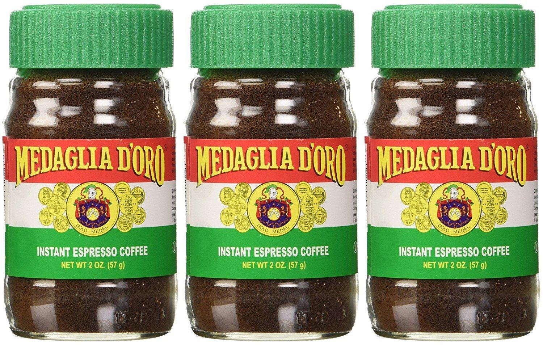 Medaglia D'Oro Instant Espresso Coffee, 2-Ounce Jars (Pack of 3) Medaglia D' Oro SYNCHKG061206