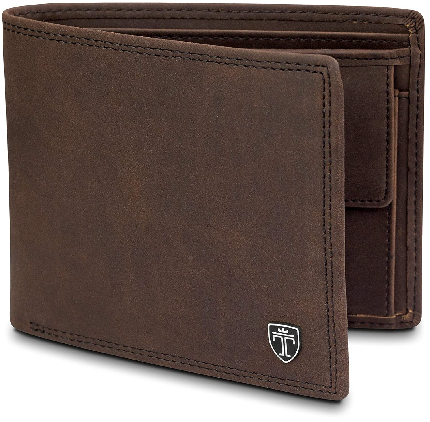 "TRAVANDO ® Wallet Mens Black ""Oslo"" - RFID Blocking - Durable Bifold Wallet - Card Holder - Coin Pocket - Gift Box"