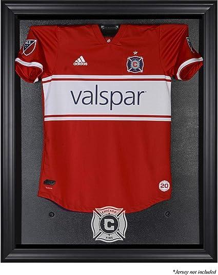 8031d087bb84 Amazon.com   Sports Memorabilia Chicago Fire FC Black Framed Team Logo Jersey  Display Case - Soccer Jersey Logo Display Cases   Sports   Outdoors