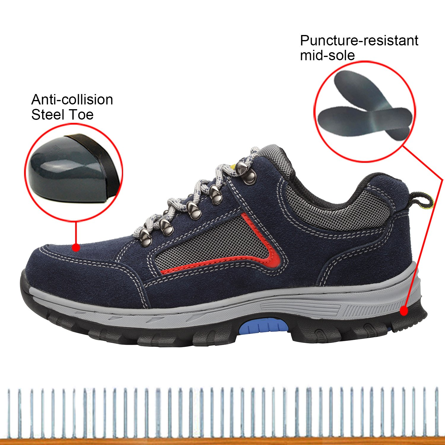 Optimal Women's Safety Shoes Work Shoes Protect Toe Shoes by Optimal Product (Image #3)