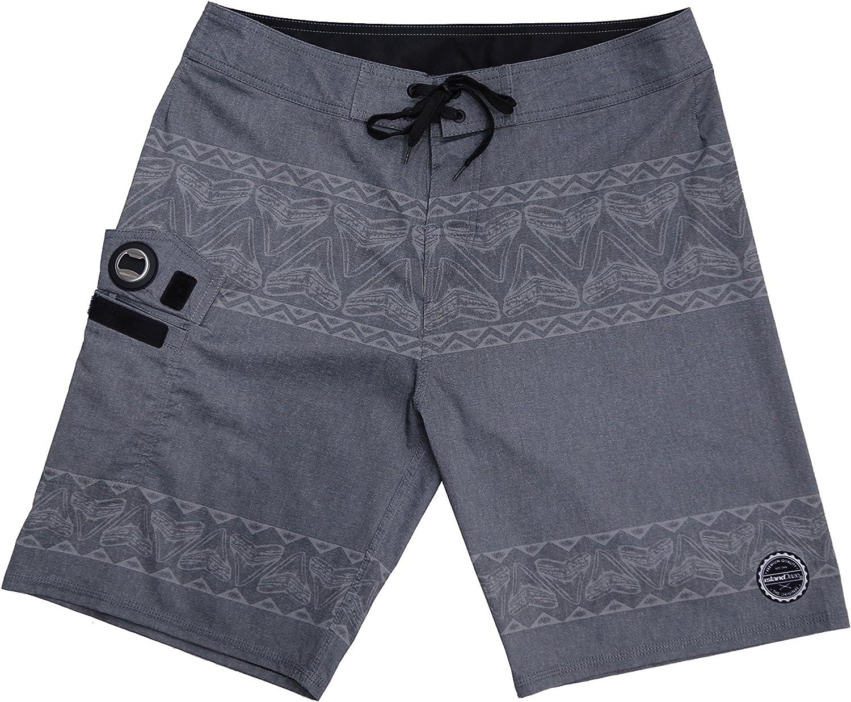ISLAND DAZE BBO - Mens Boardshort Bottle Opener Fishing Shorts Plier Pocket UV Blocking Swim …