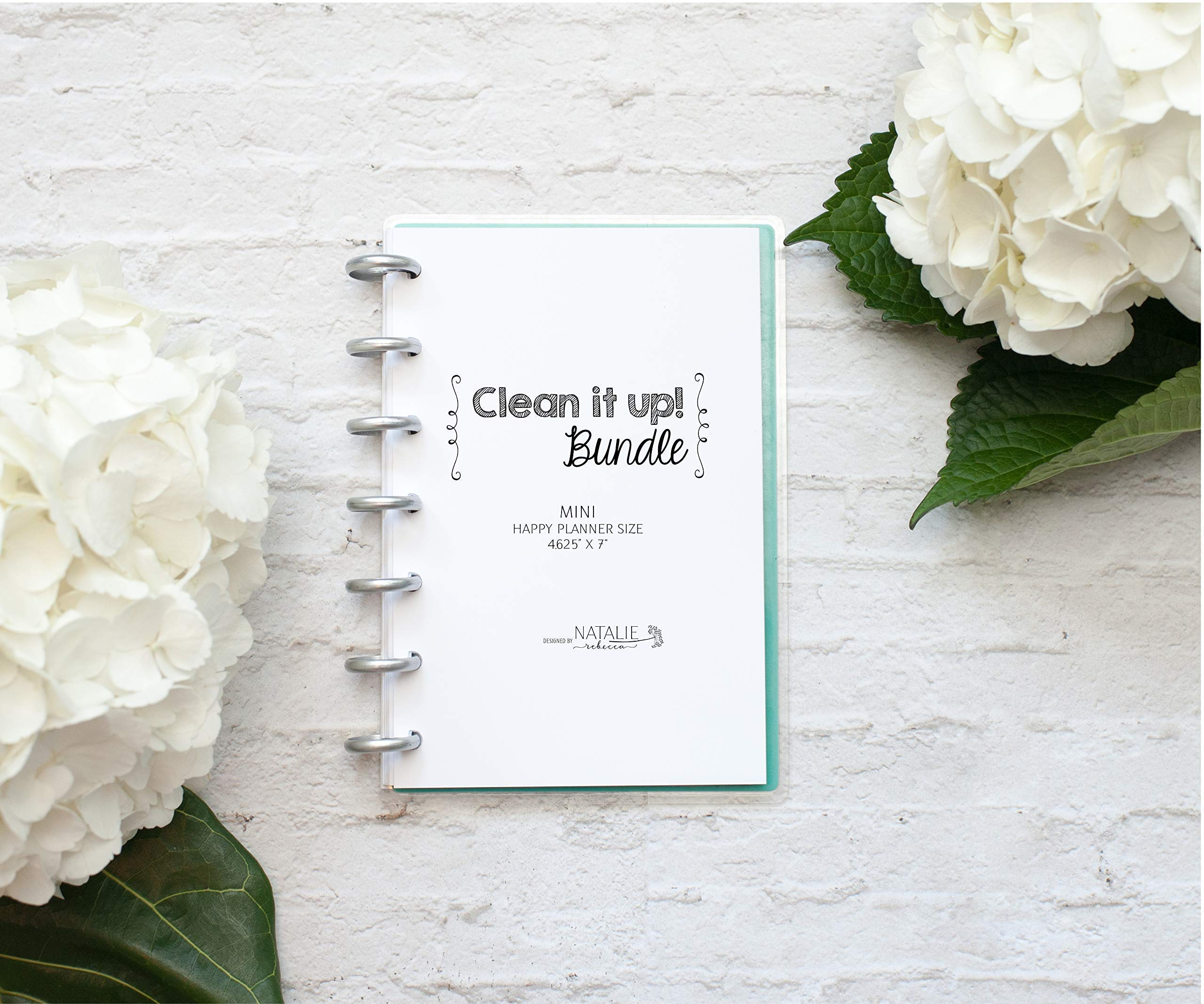 Cleaning Schedule for the Mini Happy Planner, Fits 7-Disc Notebook, Create 365 Planner Pages, 4.25''x7'' (Planner Not Included)