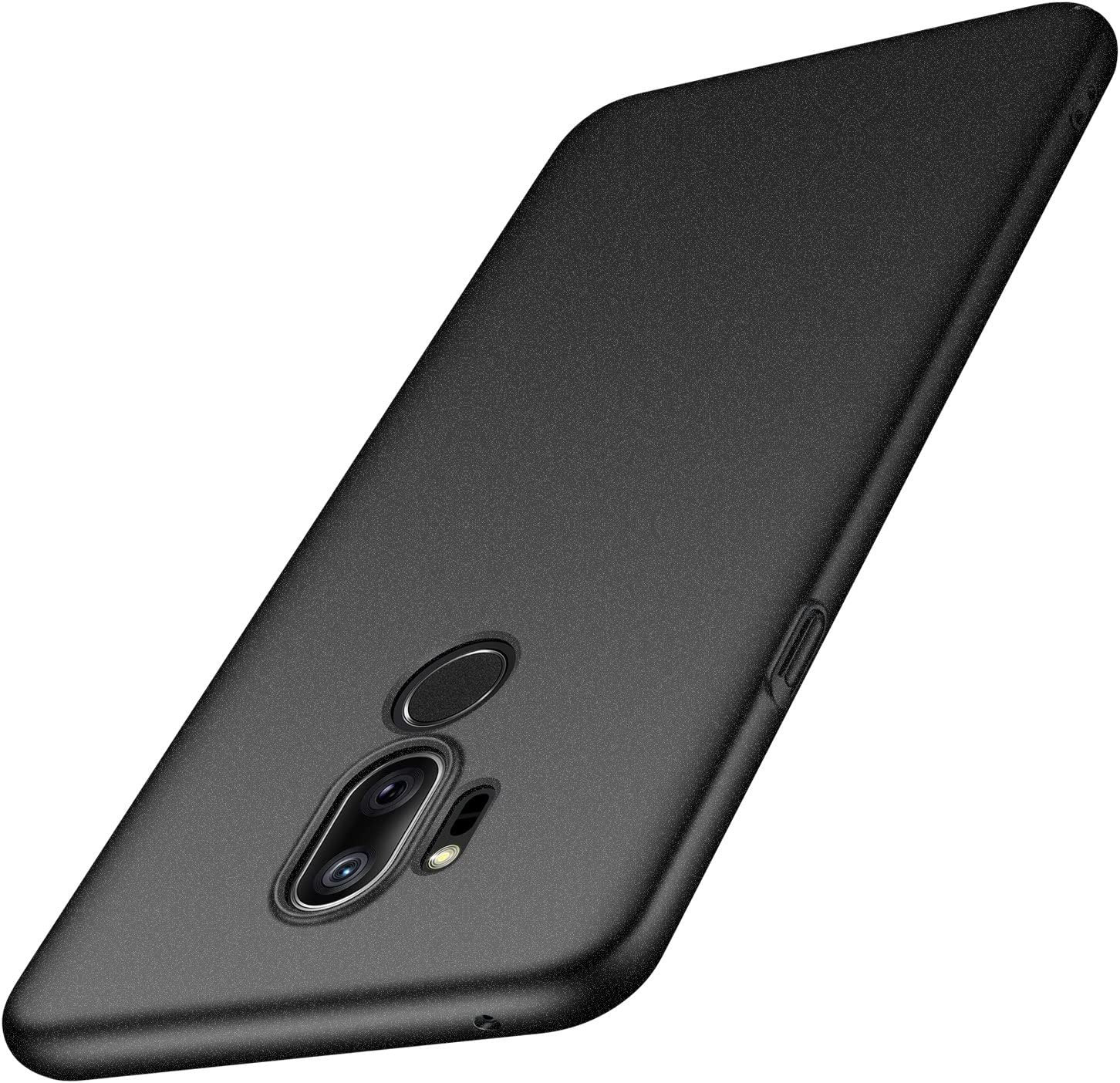 Arkour LG G7 ThinQ Case, LG G7 Case, Minimalist Ultra Thin Slim Fit Non-Slip Matte Surface Hard PC Cover for LG G7 ThinQ (Gravel Black)