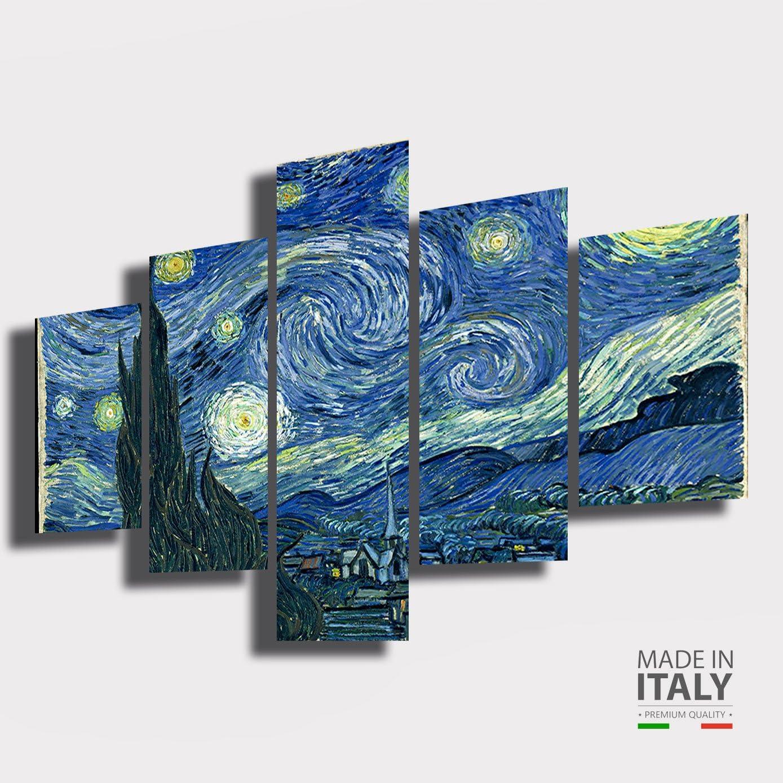30x30 Cm Quadri Moderni Soggiorno Xxl Quadro Su Tela Van Gogh 4 Pezzi Camera Da Letto Casa Cucina Arte Stampe E Quadri