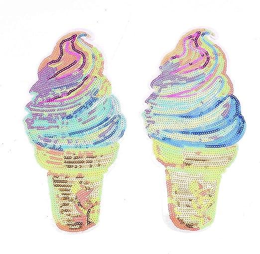 3pc//set Iron on Ice Cream Sequins patches