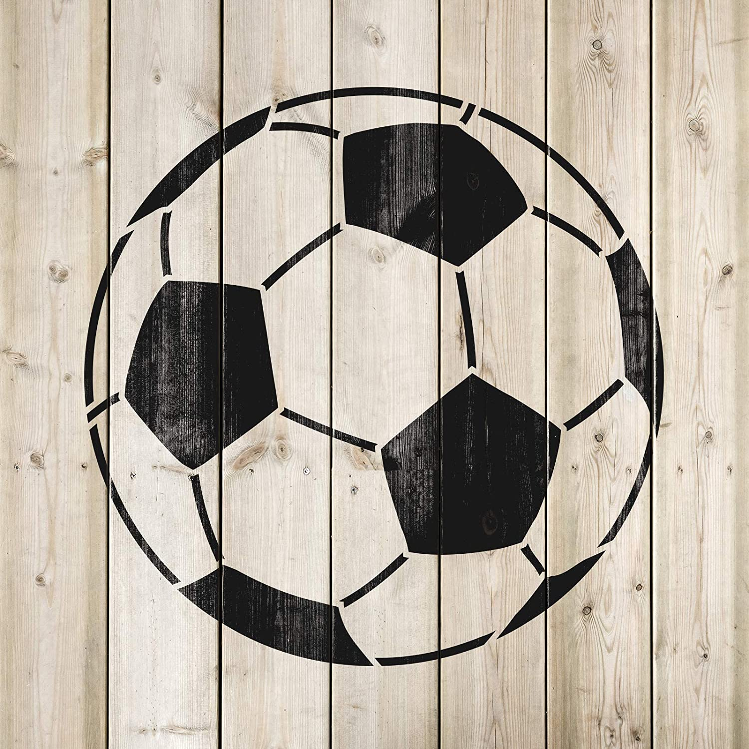 Reusable Stencils for Painting in Small /& Large Sizes Soccer Ball Stencil Template for Walls and Crafts