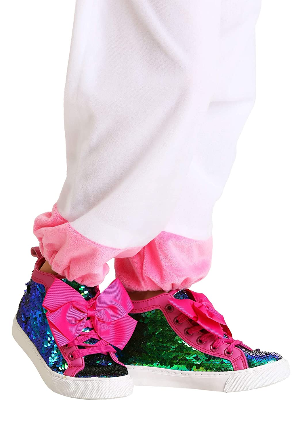 JoJo Siwa Sequined Girls Sneakers with Pink Bows Ground Up