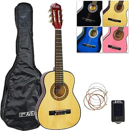 Oferta amazon: 3rd Avenue STX20ENPK Paquete de guitarra clásica de 1/2 tamaño, Natural, Paquete