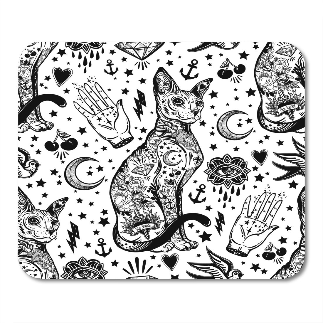 Amazon Com Boszina Mouse Pad Black Vintage Style