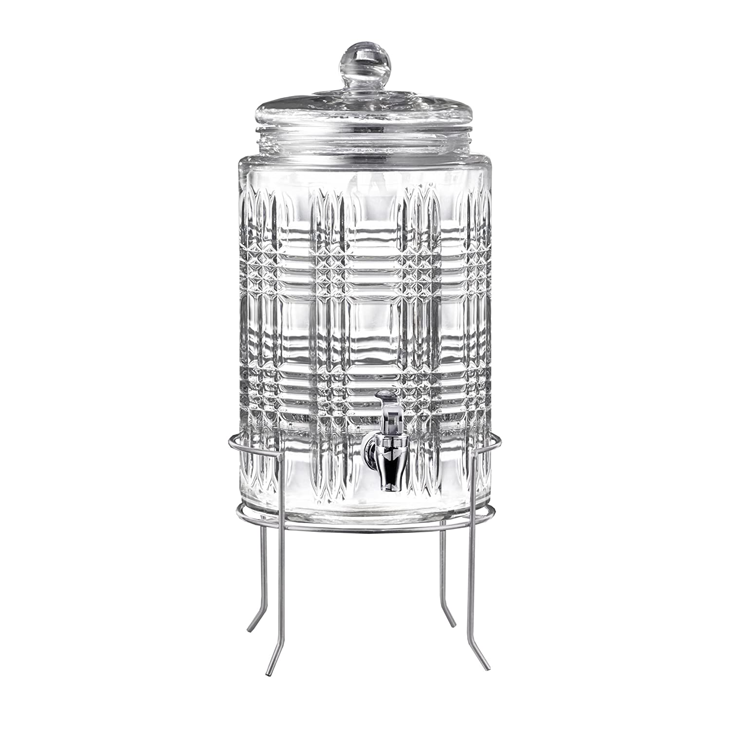 Amazon.com: Fitz and Floyd Portland 2 Gallon Beverage Dispenser With Silver Stand: Kitchen & Dining