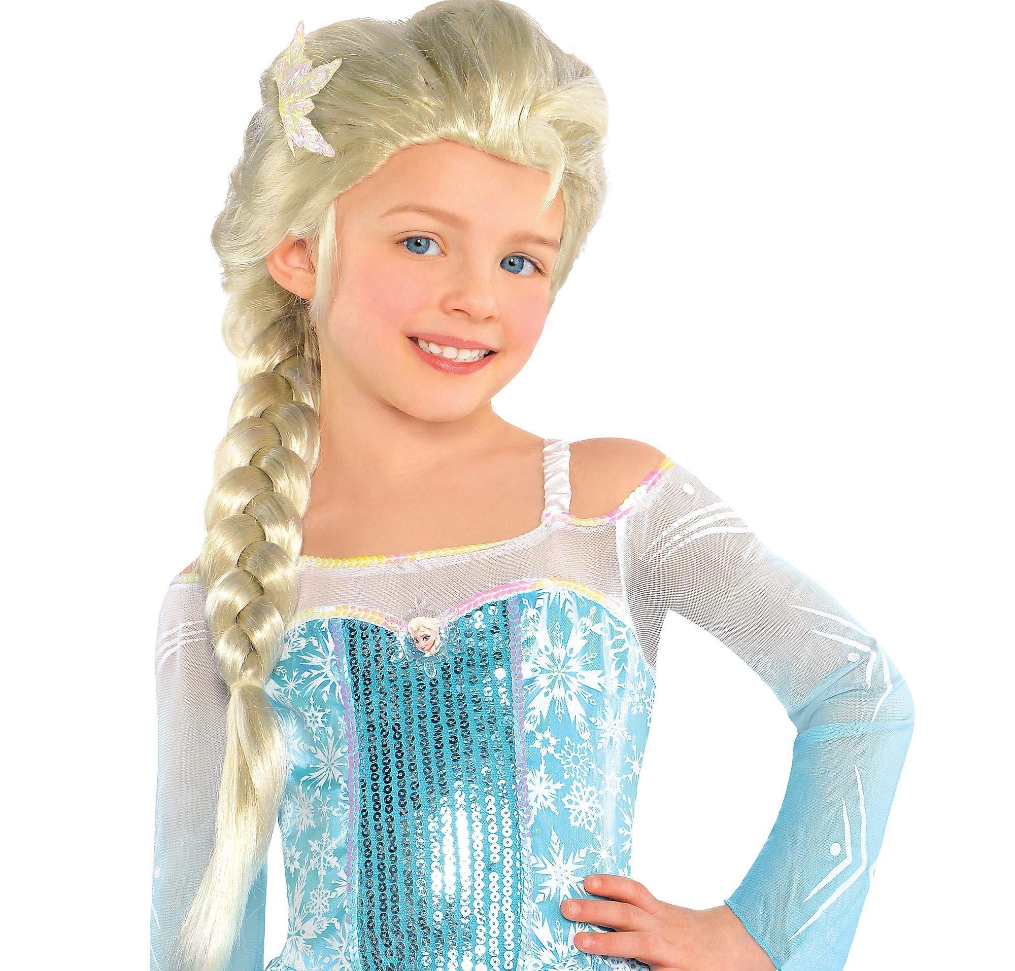 Child Disney Princess Movie Frozen Elsa The Snow Queen Braided Hair Costume Wig by Elsa Disguise