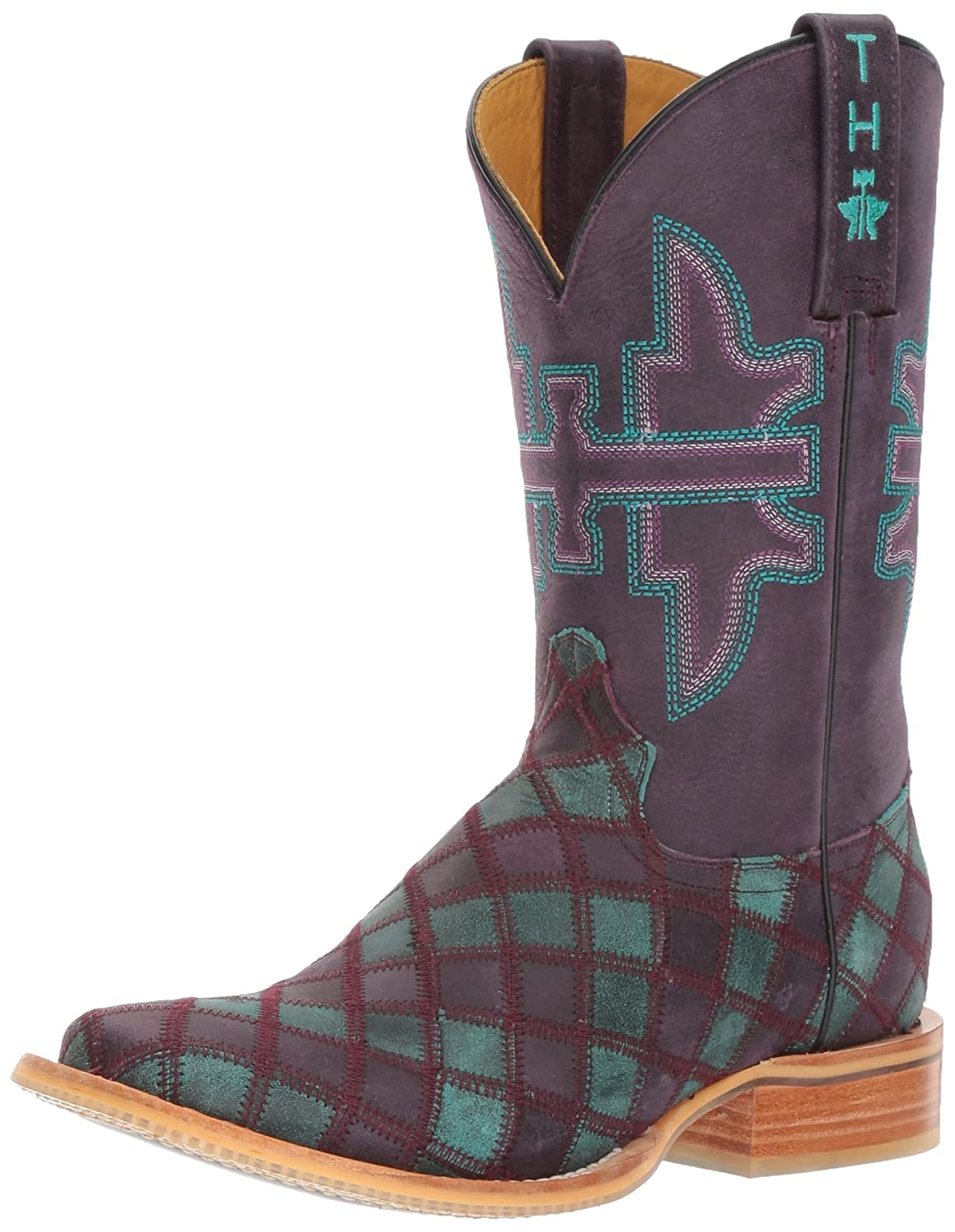 Tin Haul Shoes Women's Chevron Western Boot B01CUDCK48 7 D US|Multi