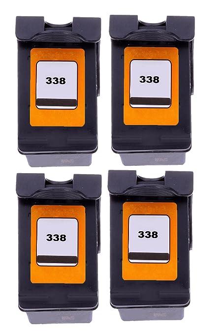 Merotoner® - 4 cartuchos de tinta para HP 338 HP Deskjet 460 C ...