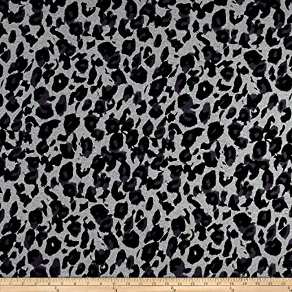 e86ab8085be Image Unavailable. Image not available for. Color: TELIO Dakota Stretch  Rayon Jersey Knit Cheetah Print Black/Grey Fabric by The Yard