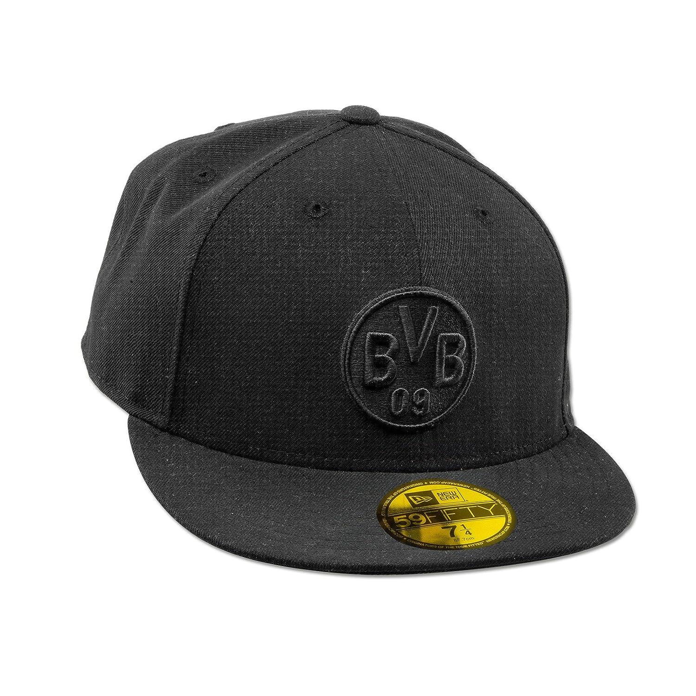 Schwarz gepr/ägtes BVB-Emblem Baumwolle Umfang 58,5 cm Borussia Dortmund Kappe Saison 17//18 Metallverschluss