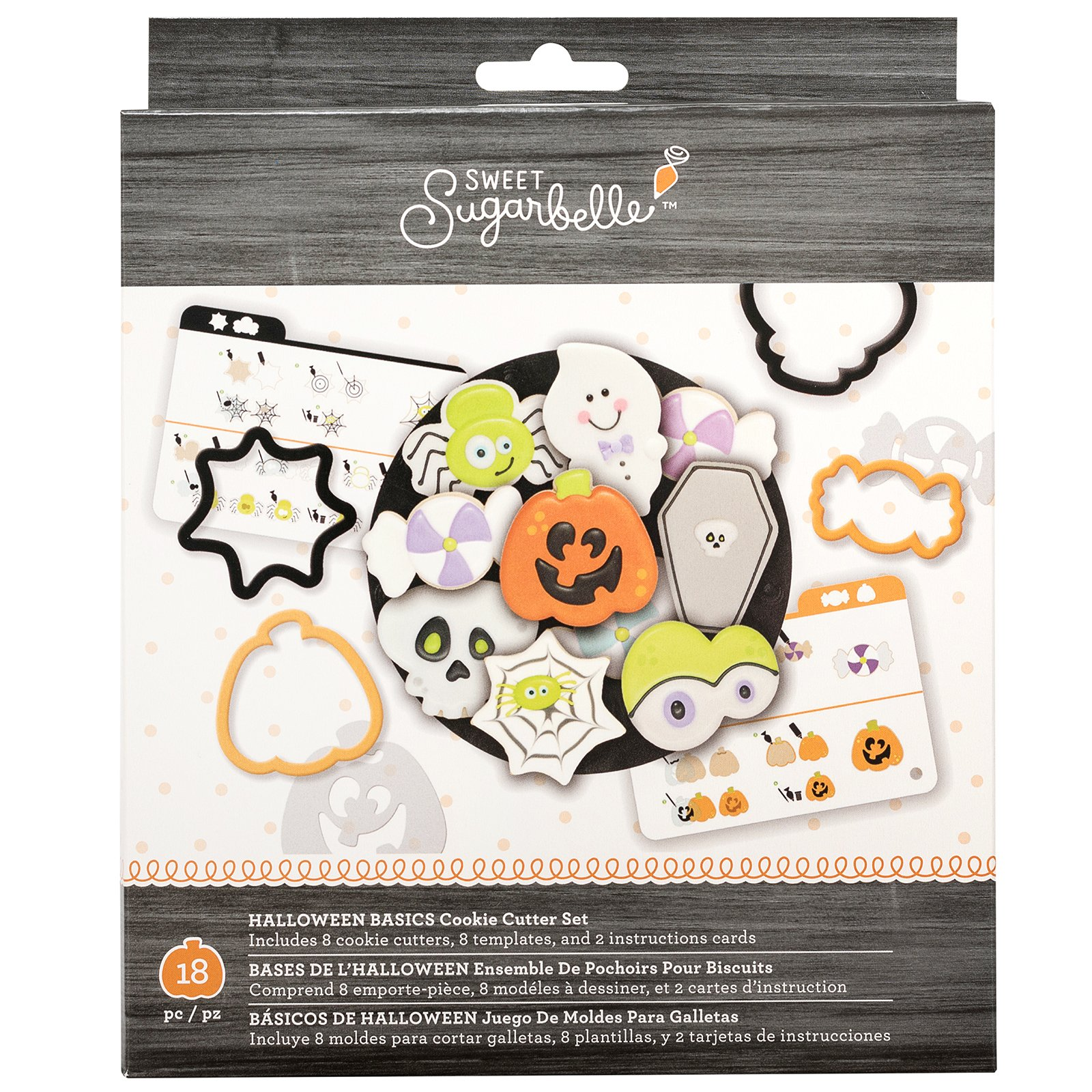 Sweet Sugarbelle 320119 Halloween Basics Cookie Cutters, Multi