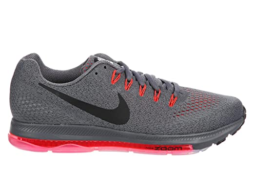 Nike Men's Zoom All Out Low Dark Grey/Black/Total Crimson Nylon Running  Shoes
