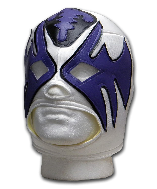 Luchadora Atlantico White Black Purple Adult size Lucha Libre Wrestling mask 000933