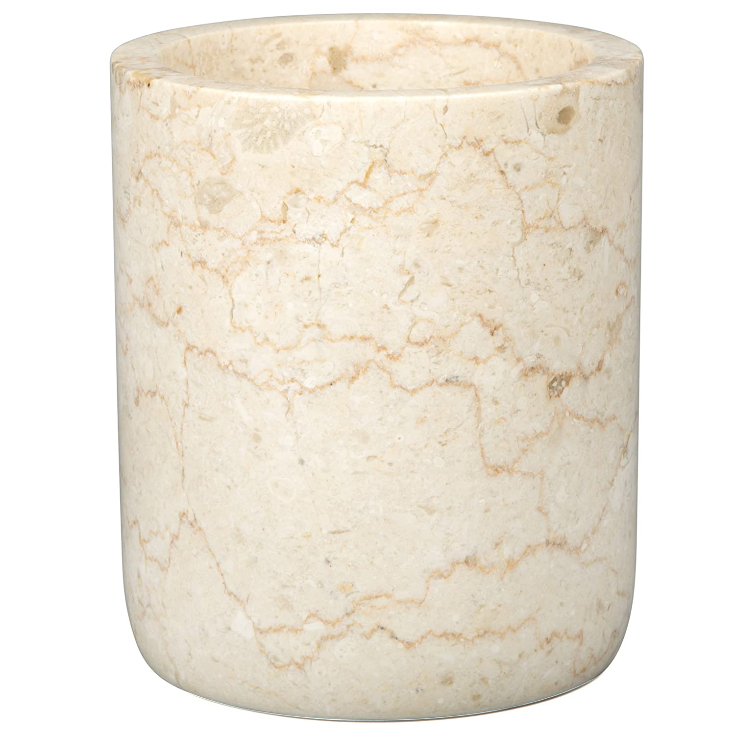 Creative Home Genuine Champagne Marble Stone Rounded Bottom Wine Cooler, Beige 74073