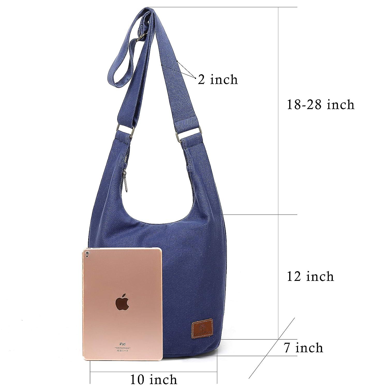 6f3b9acd6970 Hippie Crossbody Bag Top Zip Cotton Sling Bag Jacquard cloth Handmade Bags
