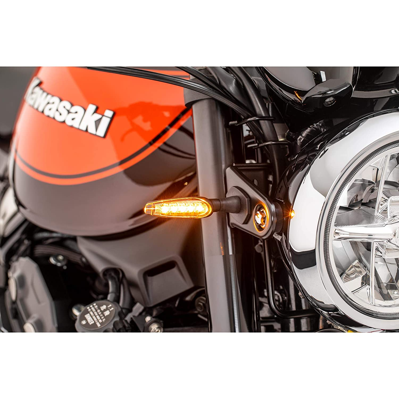 klares Glas Koso Motorradblinker LED Blinker Metall M8 schwarz