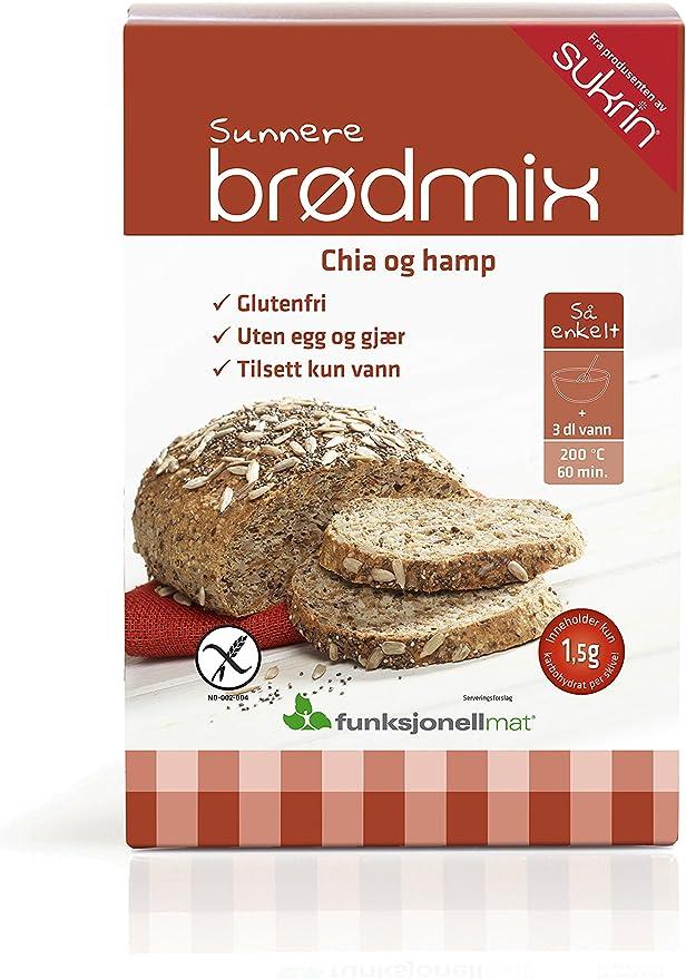 sukrin Pan Mix Gia de cáñamo Back mezcla, 1er Pack (1 x 250 g): Amazon.es: Alimentación y bebidas