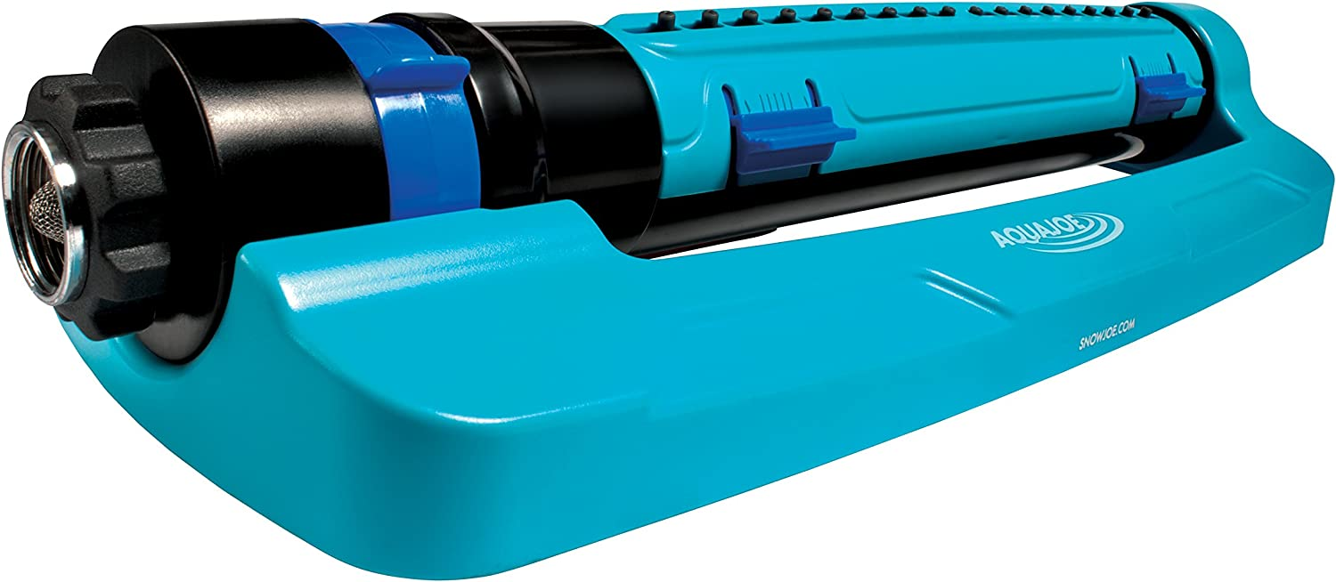 Aqua Joe SJI-TLS18 3-Way Turbo Oscillation Lawn Sprinkler, w/Range, Width, Flow Control