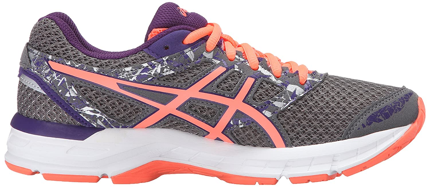ASICS Women's Gel-Excite 4 Running Shoe B01N7UJNGR 10 W US|Shark/Flash Coral/Parachute Purple