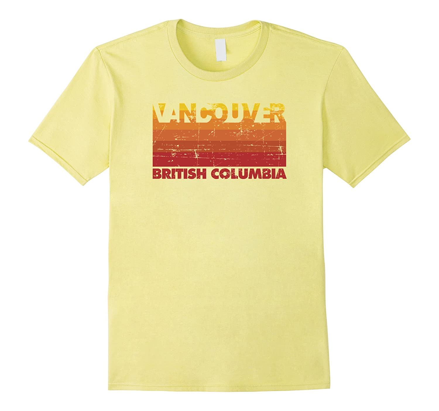 Vintage Retro Style Pacific Northwest T-Shirt - Vancouver BC-ANZ