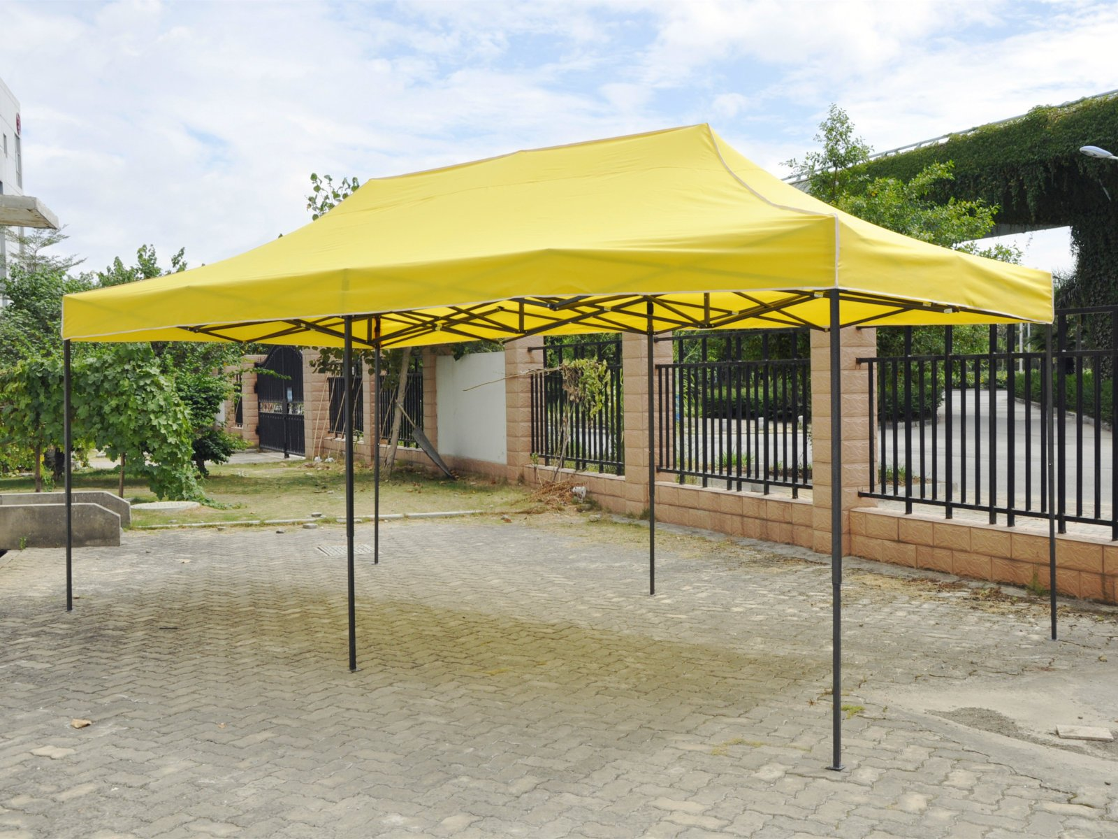 American Phoenix 10x20 Multi Color and Size Portable Event Canopy Tent, Canopy Tent, Party Tent Gazebo Canopy Commercial Fair Shelter Car Shelter Wedding Party Easy Pop Up (Yellow, 10x20)