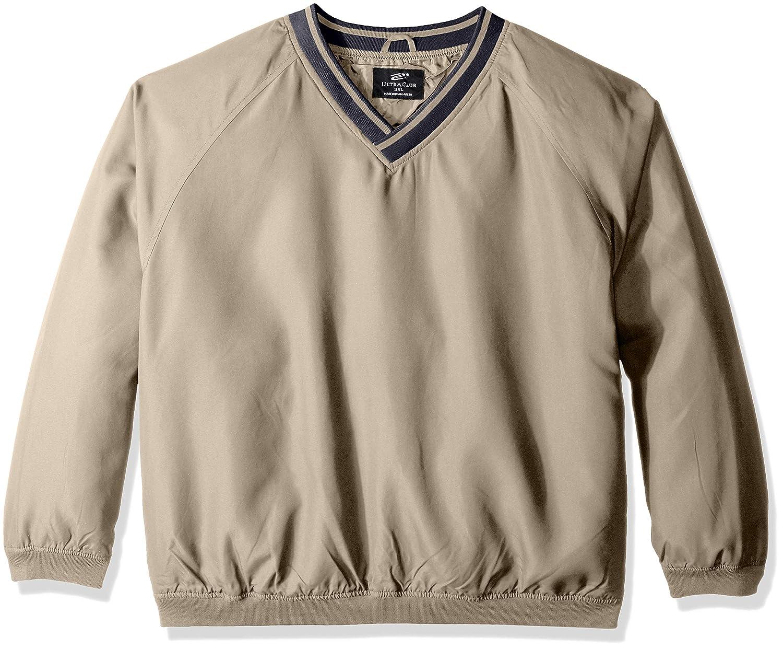 Tan Navy Medium Clementine Mens Ultc8926longsleeve Microfiber CrossOver VNeck Windshirt Sweatshirt