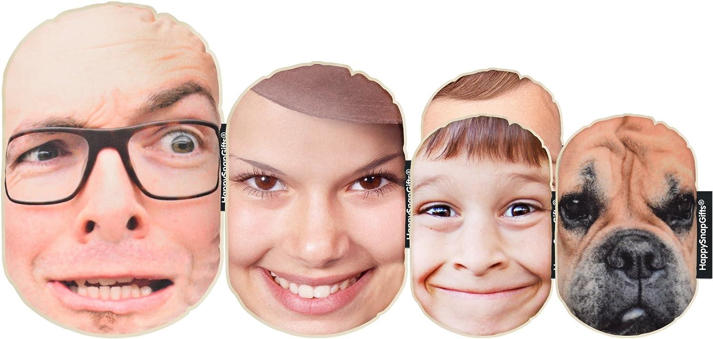 HappySnapGifts Cojín para la cara de la foto (tamaño pequeño), diseño de familia, No Hanger Loops, Pack of 5 (1x ...