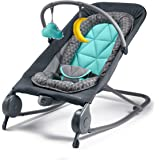 Summer 2-in-1 Bouncer & Rocker Duo - Baby Bouncer & Baby Rocker with Soothing Vibrations, Removable Toys & Compact Fold…
