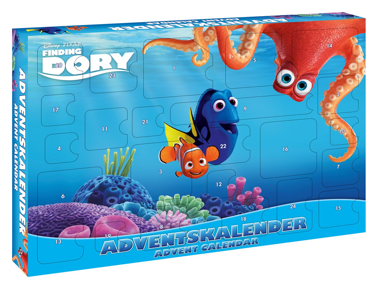 Craze 53974 – Calendario de Adviento Disney Pixar Finding Dory, Surtidos, Multicolor Craze_53974
