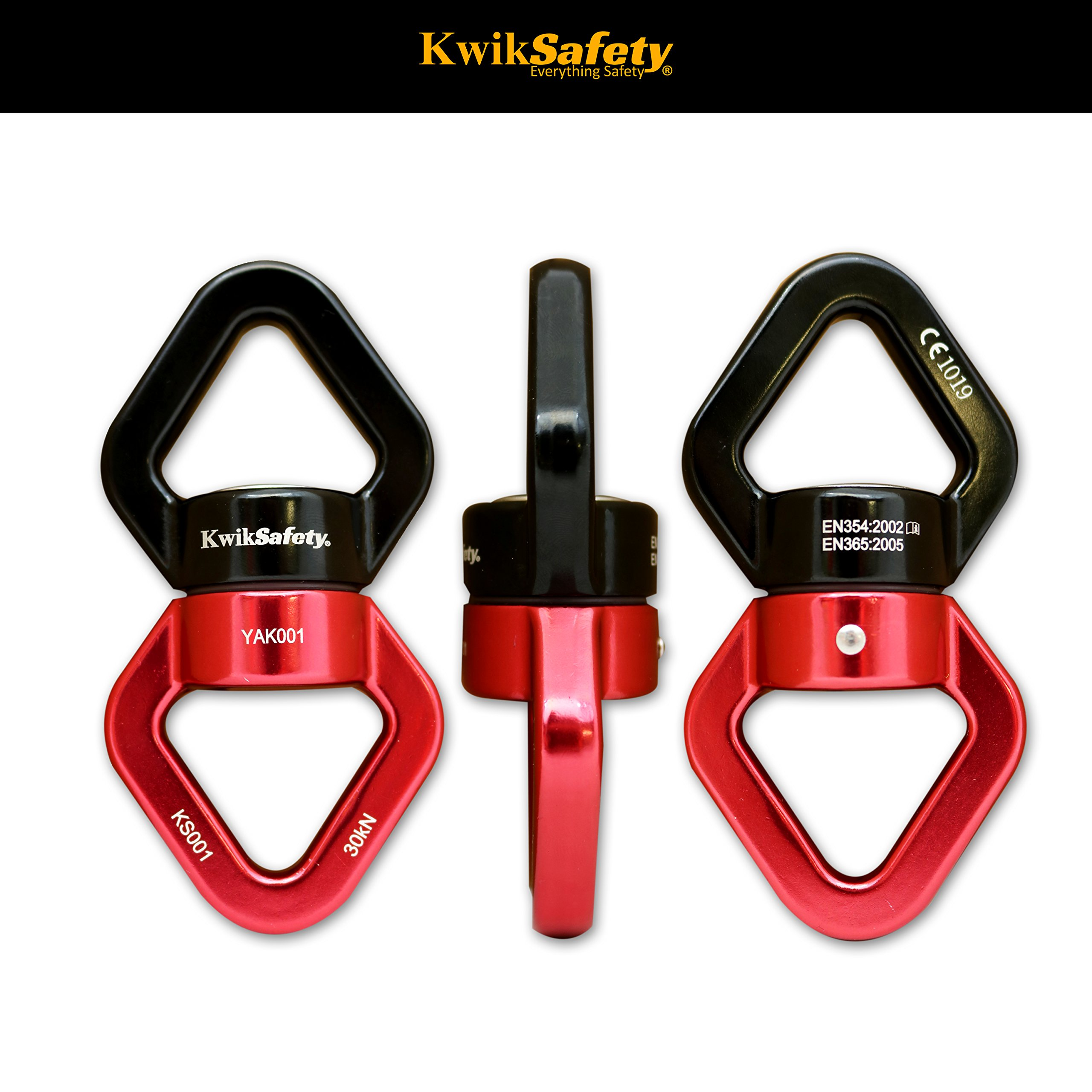 KwikSafety EXPLORER | Swivel Carabiner Set | Heavy Duty Lightweight Aluminum Alloy Climbing Gear | Swing Swivel 30 kN Carabiners 23 kN | CE & EN Certified | High Performance Smooth Rotating Device