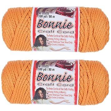 Various Colors 4mm 100 yd Lengths 2 Pack Bonnie Macram/é Cord