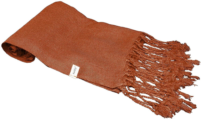 7bae5a1a2ca Kuldip Unisex Factory Seconds Pashmina Scarf Shawl Wrap Throw Milk  Chocolate Brown