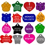 CNATTAGS Dog ID Tags Personalized | Many Shapes to Choose From| 8 Colors | by