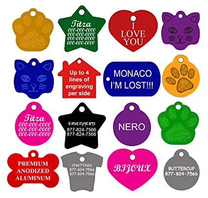 amazon com cnattags dog id tags personalized many shapes to