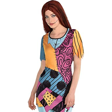 Party City The Nightmare Before Christmas Sally Tunic Halloween Costume  Shirt for Women, Large/Extra Large