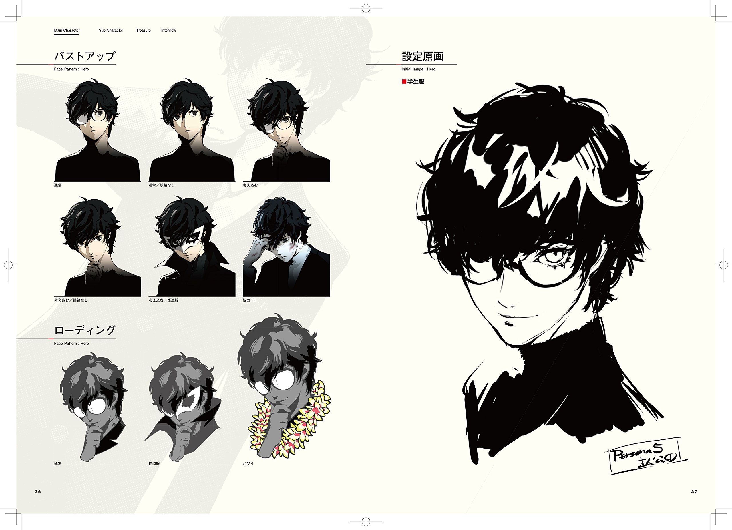Persona 5 P5 Official Design Works Japan PS4 PS3 GAME ART BOOK